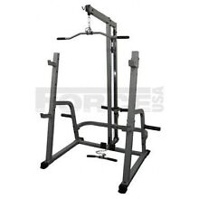 Force USA squat rack w/dual pulleys home gym priced to go! Chermside West Brisbane North East Preview