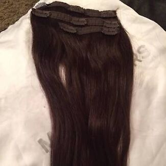 Bellami hair extensions gumtree australia free local classifieds dark brown bellami clip in hair extensions pmusecretfo Images