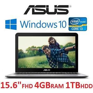 "NEW ASUS 15.6"" WINDOWS 10 LAPTOP - 128307888 - NOTEBOOK COMPUTER INTEL CORE I3 4 GB RAM 1 TB HDD"