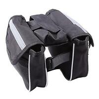 Bicycle Bike Frame Pannier Double Saddle Bag