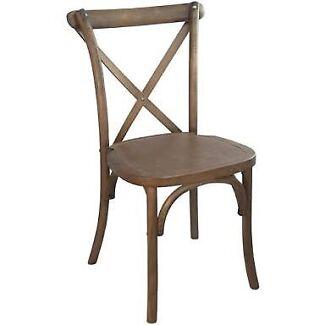 $7 SPECIAL Oak Cross Back Chairs