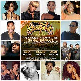 SOULFEST 2015 MELBOURNE VIP FRONT OF STAGE TICKET Melbourne CBD Melbourne City Preview