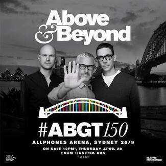 GA tickets Above and Beyond Sydney 26/09/2015 Vaucluse Eastern Suburbs Preview