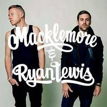 MACKLEMORE & RYAN LEWIS 5th AUG ROD LAVER X 2 TICKETS Williamstown Hobsons Bay Area Preview