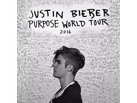 SHEFFIELD Justin Biber tickets x2 26 oct 16