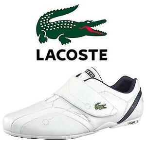 NEW LACOSTE SHOES MEN'S 7 728SPM0026X96 207015798 PROTECT CRT SPM WHITE LEATHER SNEAKER