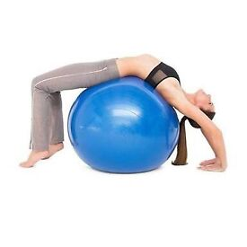 Two Swiss balls - yoga balls and electric pump