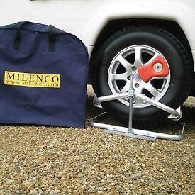 Milenco caravan leveller, including storage bag.