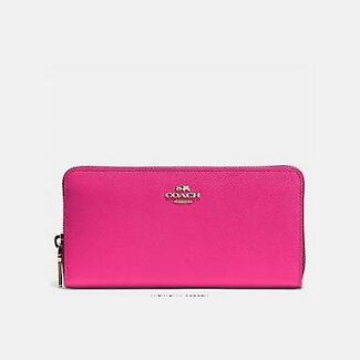 Coach Authentic Luxury Leather Wallet Hot Pink