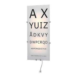 Industrial style Ikea eye chart wall lamp