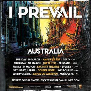 Wanted: I Prevail tickets x2 Brisbane @ triffid Morayfield Caboolture Area Preview