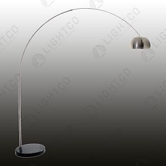 Floor lamp curved arm + marble base