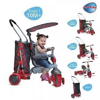 Smart Trike & Go 5 In 1 - Red & Black