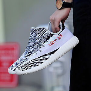 Men Yeezy Shoes 350 Breathable Running Shoes