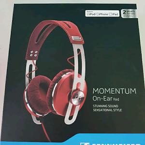 Sennheiser Momentum On-Ear Red Headphones Southbank Melbourne City Preview
