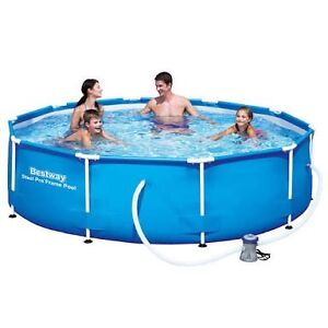 12ft pool with cover, cleaning kit and pump. Bestway intex steel Thomastown Whittlesea Area Preview