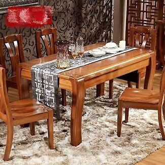 Hard Wood Dinning Table With Six chairs for sale