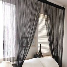 2x BLACK STRING CURTAINS Beaumont Hills The Hills District Preview