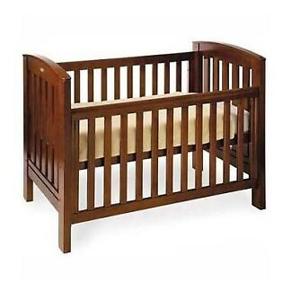 BERTINI Renaissance 3 in 1 Timber Cot / Toddler Bed with Mattress