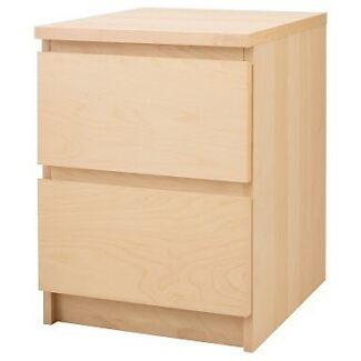 WANTING TO BUY - 2 IKEA birch bedside tables  Coogee Cockburn Area Preview