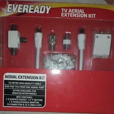 Tv aerial extension kit