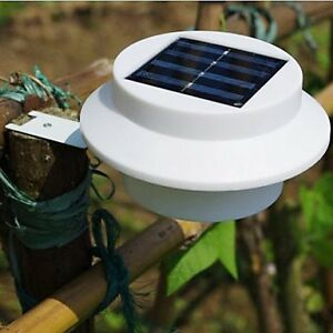 LLSai-New 3 Led Solar Power Garden Light Outdoor Fence Yard Wall