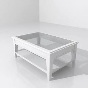IKEA liatorp glass coffee table white RRP $299 Lilyfield Leichhardt Area Preview