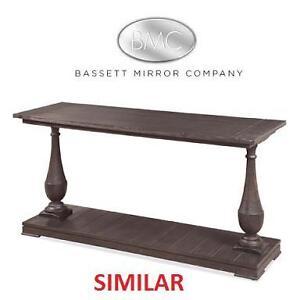 NEW BMC HANOVER WOOD CONSOLE TABLE - 120437472 - BASSETT MIRROR COMPANY BLACK