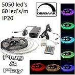 RGB Ledstrip 5050LED's 5 meter complete set ip20