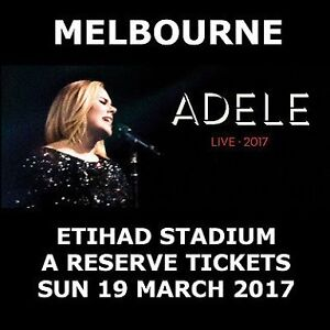 Melbourne, 2 x A RESERVE tickets to ADELE LIVE 2017 Picnic Point Bankstown Area Preview