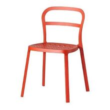 2 IKEA Reidar dining chairs in red West Ryde Ryde Area Preview
