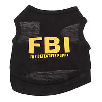 FBI The Detective Puppy Cotton Vest for Pets Dogs Puppies NEW