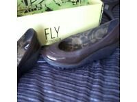 Fly brown size 5 shoes