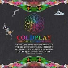 Silver GA Tickets for Coldplay A Head Full of Dreams Tour Sydney Bondi Beach Eastern Suburbs Preview