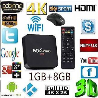 MXQ Pro Android 7.1 TV Box Quad-Core KODI Box 18.0 Wifi Ethernet