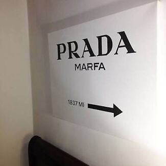 Prada Marfa Canvas Print Wall Art