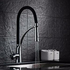 Kitchen Faucets , Transitional with Chrome Single Handle One Hole