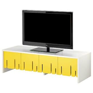 IKEA PS TV cabinet white with yellow folding door