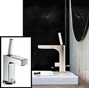 NEW SINGLE HANDLE BATHROOM FAUCET - 131124047 - LAVATORY AXOR HANSGROHE CITTERIO CHROME W/ POP UP DRAIN