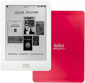 Kobo Aura Glo + Carte 2GB + Couverture
