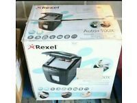 Rexel Auto+ 100X Cross Cut Paper / Credit Card Shredder with 100 Sheet Capacity and Jam Clearance