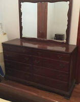 VINTAGE GIBBARD WALNUT FIVE PIECE BEDROOM SEY
