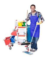 cleaning service 20 to 25 an hour satisfaction guarantee