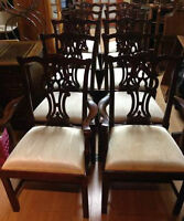 TEN CHINESE CHIPPENDALE STYLE CHAIRS
