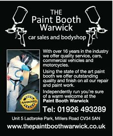THE PAINT BOOTH WARWICK CAR BODY REPAIRS FROM SMALL CHIPS/DINGS TO PANEL DAMAGE PUBLIC & INSURANCE