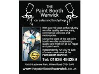 CAR VAN MOTORBIKE REPAIR & PAINT THE PAINT BOOTH WARWICK FOR ALL YOUR SMALL CHIPS DINGS & DENTS !