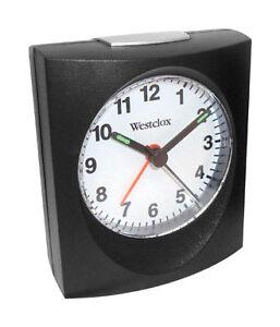 Westclox Analog Travel Alarm Clock #43711A  NEW  Battery Powered