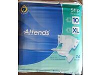 IncontIncontinence Attends Slip Regular - X Large (10) (150-175cm/59-68in) Pack of 14