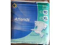 ATTENDS SLIPS REGULAR - Size XL - 14 slips per pack - 2 packs available