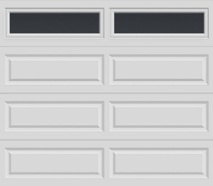 Garage Door Clearance - Insulated 9x7 with glass top - Grey